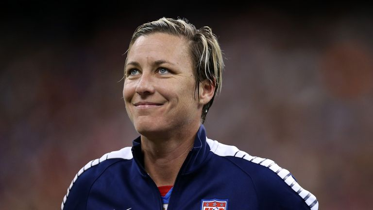 Abby Wambach at Mercedes-Benz Superdome on December 16, 2015 in New Orleans, Louisiana.