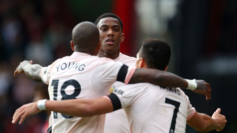 Anthony Martial equalised for United
