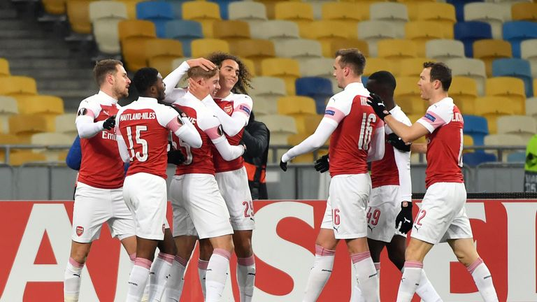 Emile Smith Rowe's goal was his third of the season, and second in the Europa League