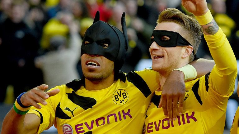 Aubameyang says he is considering a repeat of his famous mask celebration