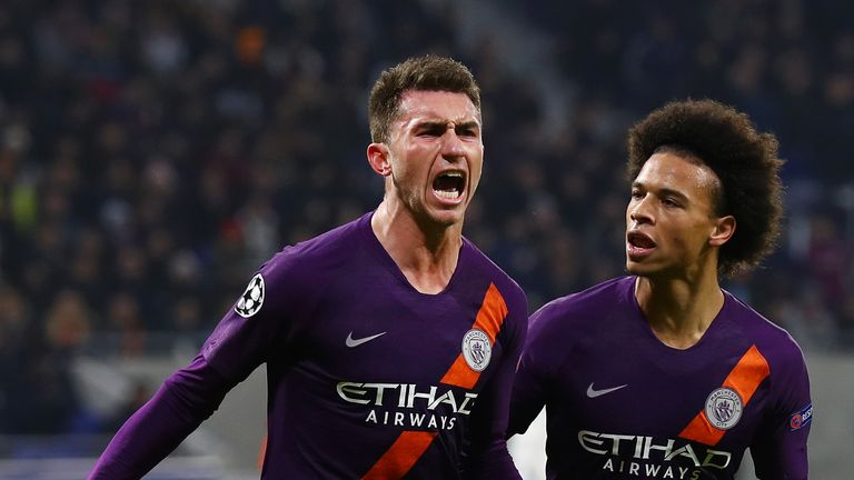 Aymeric Laporte headed Manchester City level at 1-1