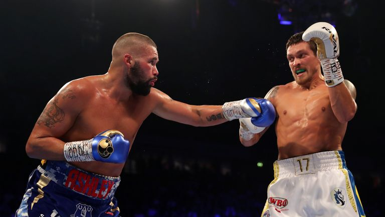Bellew had posed problems to Usyk in the early rounds