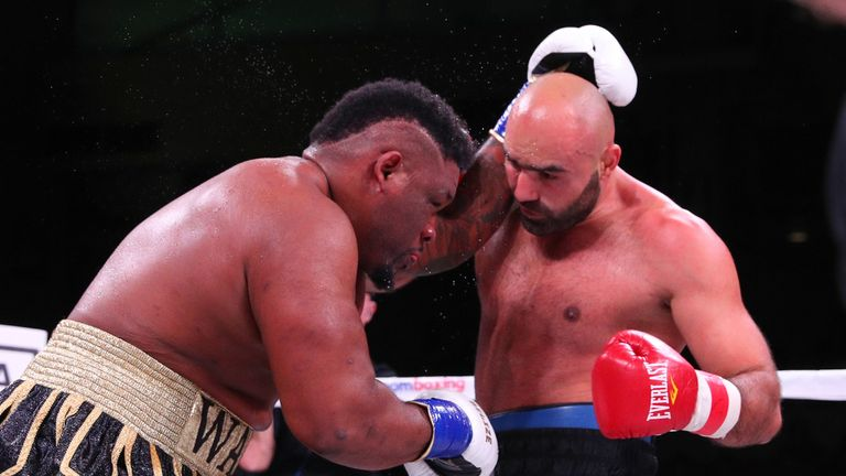 Jarrell Miller took control round by round before the finish in the fourth
