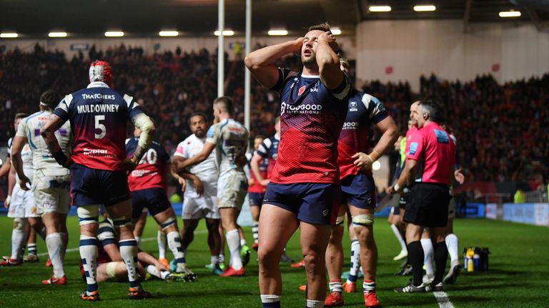 Bristol suffered defeat to Exeter Chiefs in the last minute of their clash at Ashton Gate