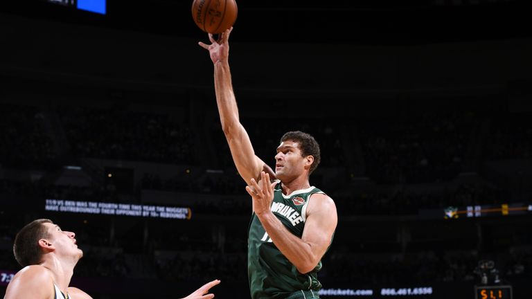 Brook Lopez scored 28 points for the Bucks in their win over the Nuggets