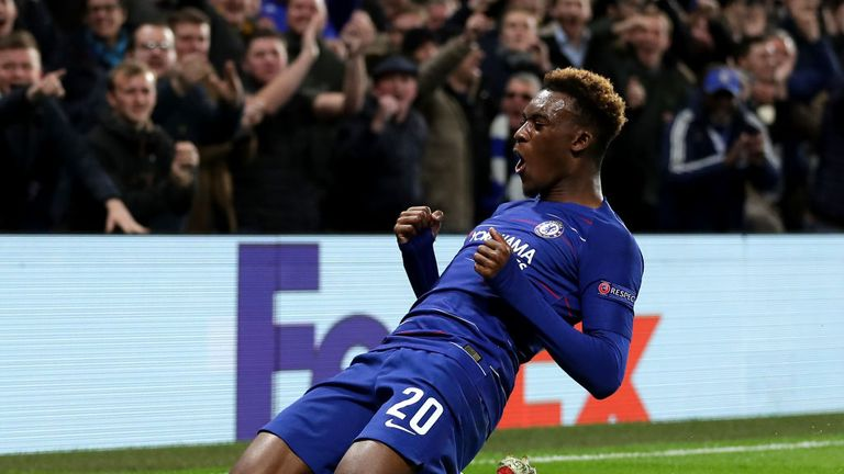 Hudson-Odoi scored Chelsea's third goal against PAOK