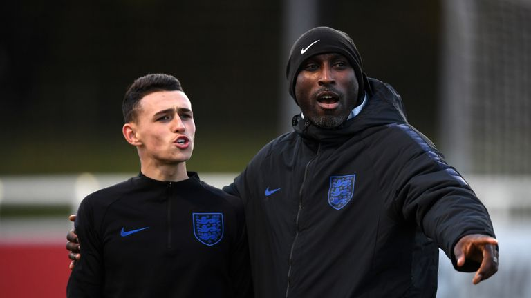 Sol Campbell and Phil Foden