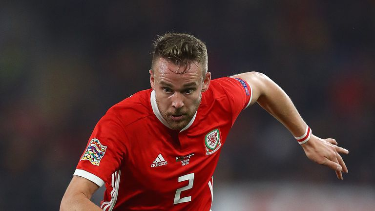 Chris Gunter is set to become Wales' most-capped player in the friendly against Albania on Tuesday