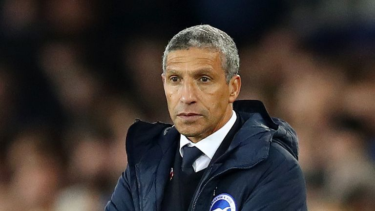 Brighton manager Chris Hughton has ruled himself out