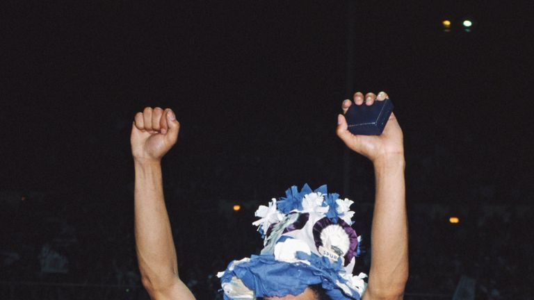 Hughton celebrates after the 1981 FA Cup final
