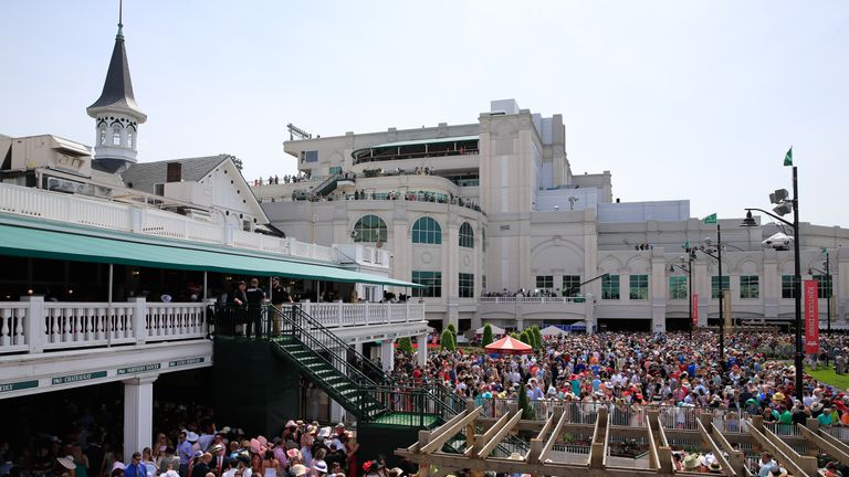 A general view of Churchill Downs