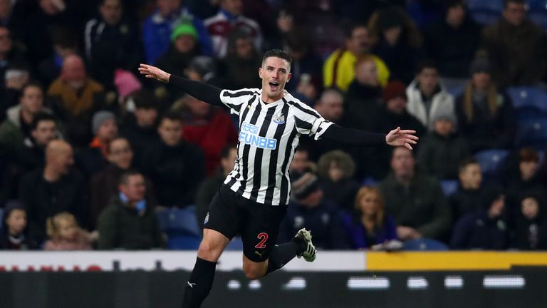 Ciaran Clark scored the winner in Newcastle latest victory at Burnley