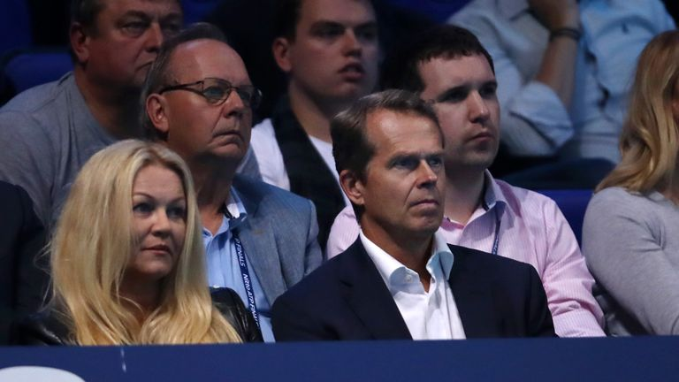Stefan Edberg was an interested spectator at The O2 on Friday