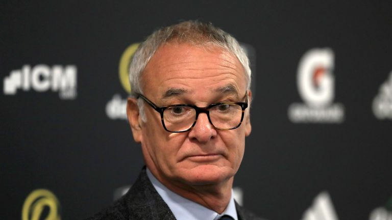 Claudio Ranieri holds a press conference at Craven Cottage