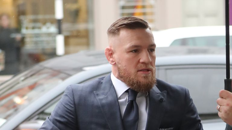 Conor McGregor arrives at Naas District Court