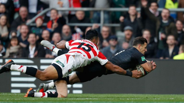Danny Care goes over for England