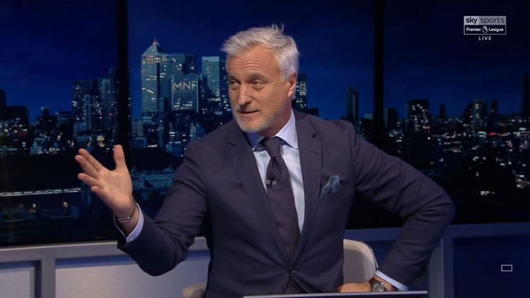 David Ginola was a guest on Monday Night Football