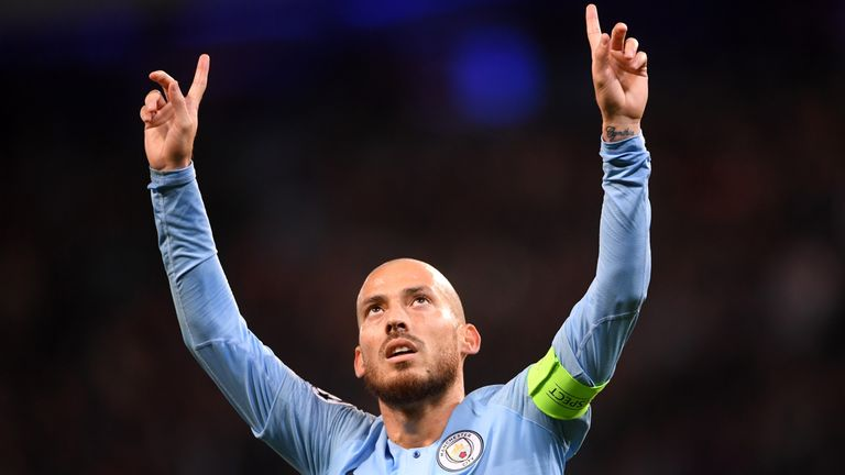 during the Group F match of the UEFA Champions League between Manchester City and FC Shakhtar Donetsk at Etihad Stadium on November 7, 2018 in Manchester, United Kingdom.