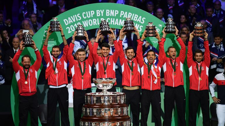 Croatia denied hosts France back-to-back Davis Cup titles