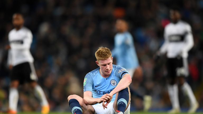 Kevin De Bruyne was forced off in the final few minutes to spark concerns
