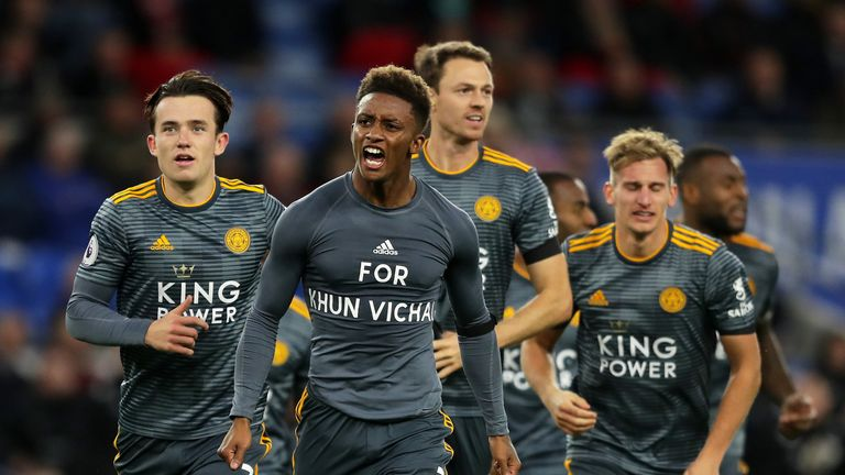 Demarai Gray scored Leicester's winner against Cardiff last weekend in their first match since the owner's passing