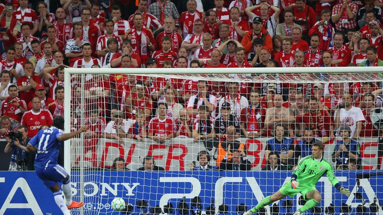 Didier Drogba scoring the deciding penalty in Chelsea's 2012 Champions League victory