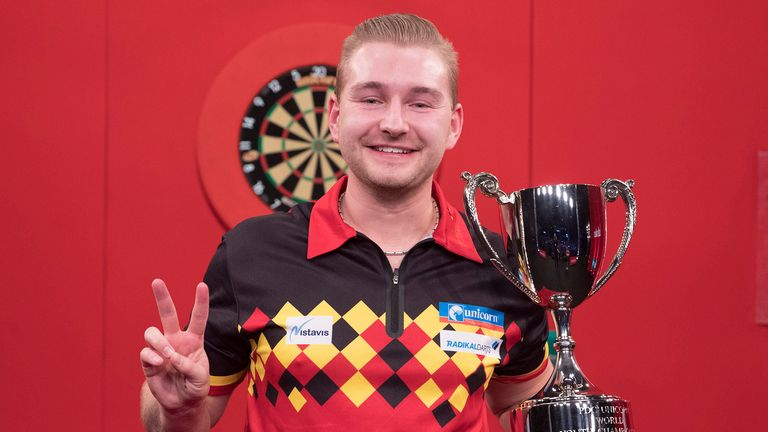 Dimitri Van den Bergh becomes the first man in PDC history to win two World Youth Championship titles