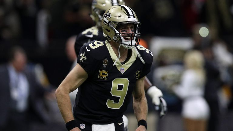 Drew Brees and the New Orleans Saints currently lead the way in the NFC