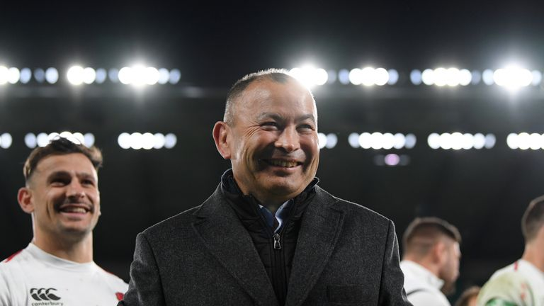 Eddie Jones coached Japan for three years including at the 2015 World Cup in England