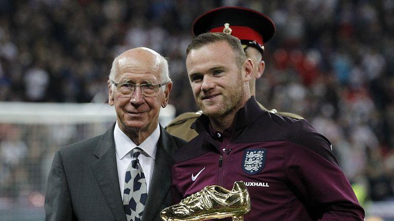 England Wayne Rooney Sir Bobby Charlton