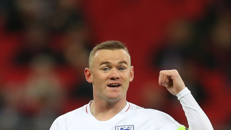 Rooney wore the captain's armband on his 120th appearance