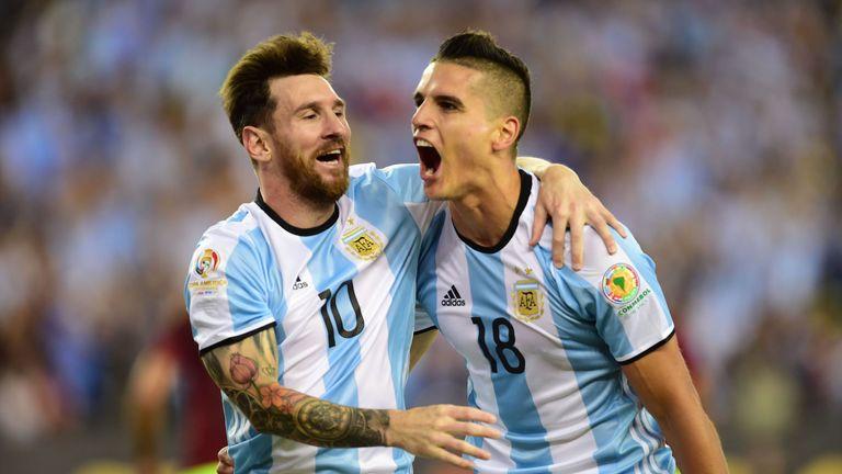 Erik Lamela, pictured with team-mate Lionel Messi, last featured for Argentina in 2016