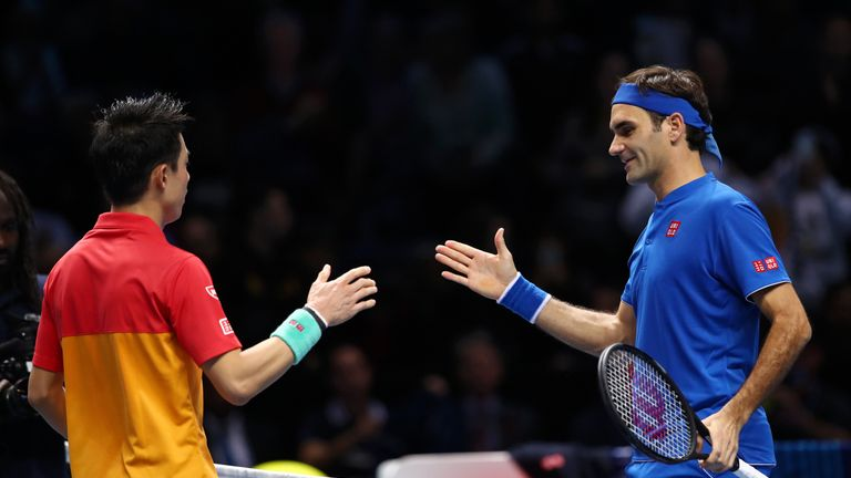 Federer suffered only his third defeat against Nishikori in 10 meetings on day one of the 2018 competition