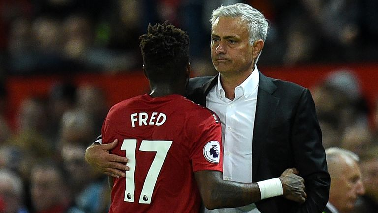 Jose Mourinho has played Fred in just four of United's last 11 Premier League games