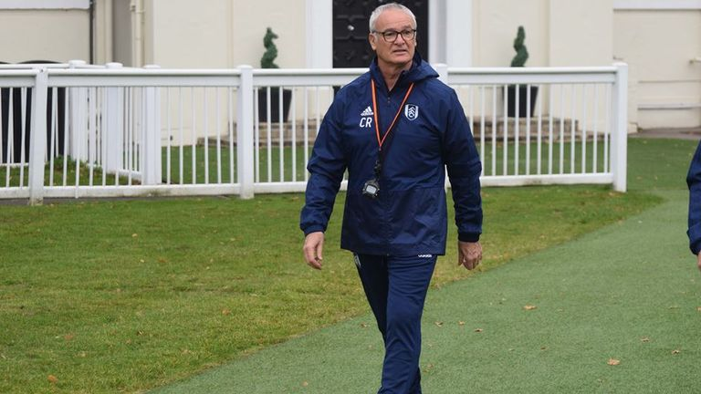 Claudio Ranieri Takes First Training Session As New Fulham Manager Football News Sky Sports