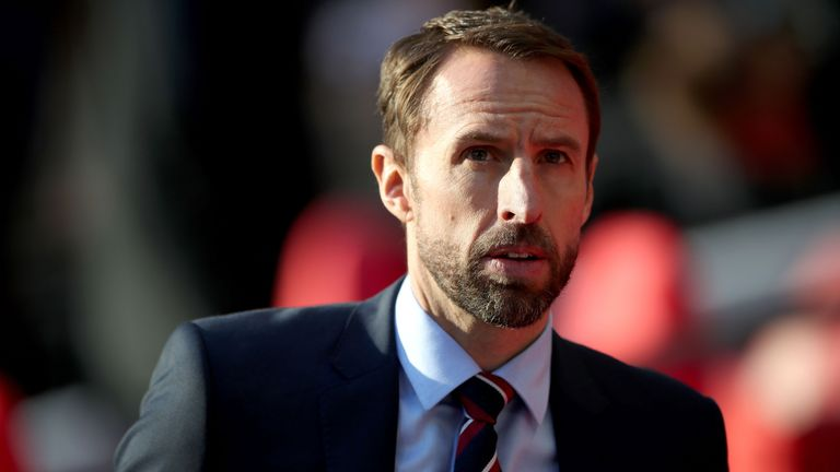 England manager Gareth Southgate during the UEFA Nations League, Group A4 match against Croatia