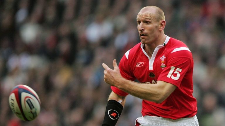 Gareth Thomas played 100 times for Wales, scoring 200 points and captaining his country