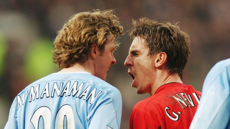 Gary Neville clashes with Steve McManaman