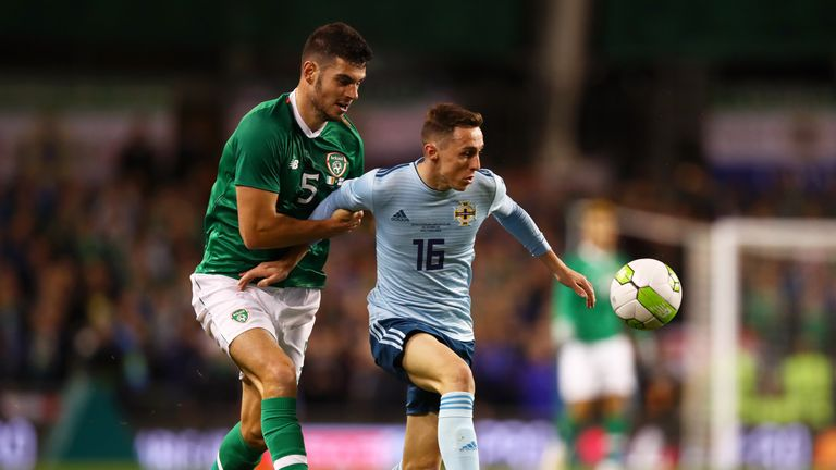 Gavin Whyte was unlucky not to score on his first start for Northern Ireland