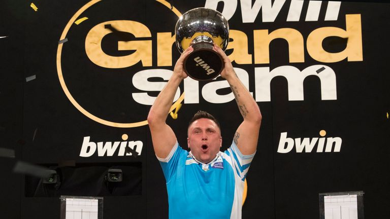 Gerwyn Price will be aiming to defend his Grand Slam of Darts crown in Wolverhampton