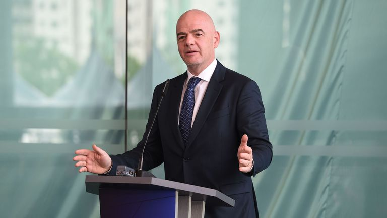 Infantino says it is up to FIFA 'to protect football'