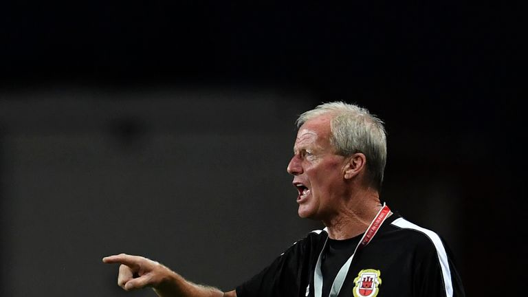 Gibraltar manager Jeff Wood could not guide his side to Nations League promotion