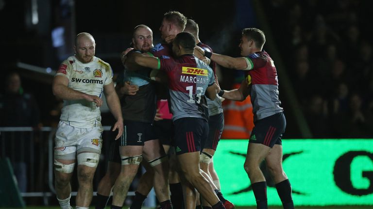 Quins notched a bonus-point victory after coming from behind to score four tries and win