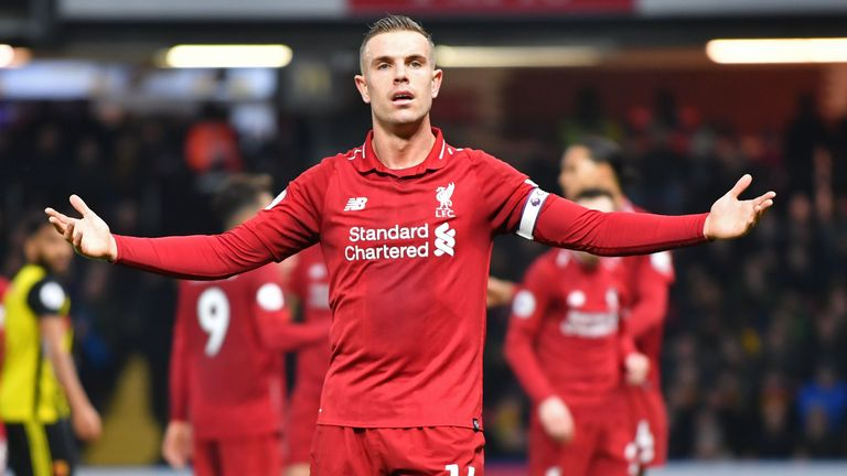 Jordan Henderson is suspended for the Merseyside derby