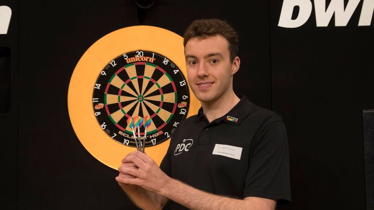 Huw Ware is taking on a role as an LGBT ambassador for darts as part of the PDC's support for Stonewall's Rainbow Laces campaign (pic: Lawrence Lustig)