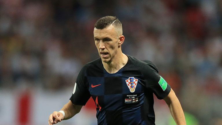 Ivan Perisic in action for Croatia during the World Cup