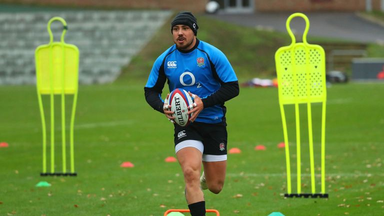 Jack Nowell missed England's game with Australia after injuring himself in training