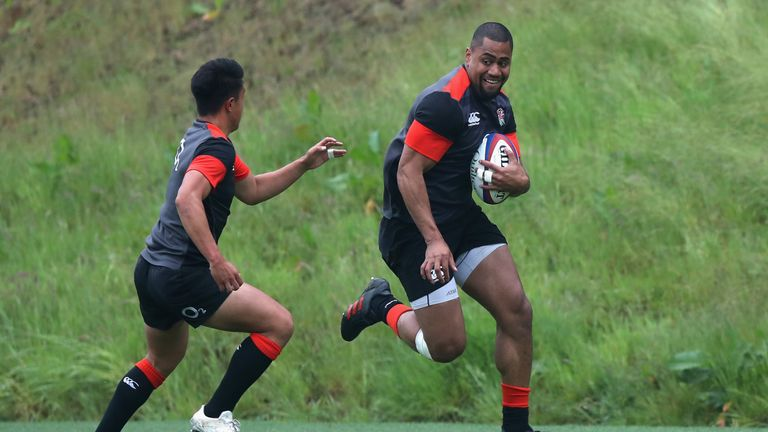 England head coach Eddie Jones is excited by the potential of Joe Cokanasiga, but won't put pressure on the Bath winger as he prepares for his first cap.