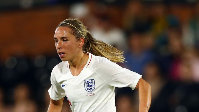 Jordan Nobbs during the International Friendly match between England Women and Australia at Craven Cottage on October 9, 2018 in London, England.