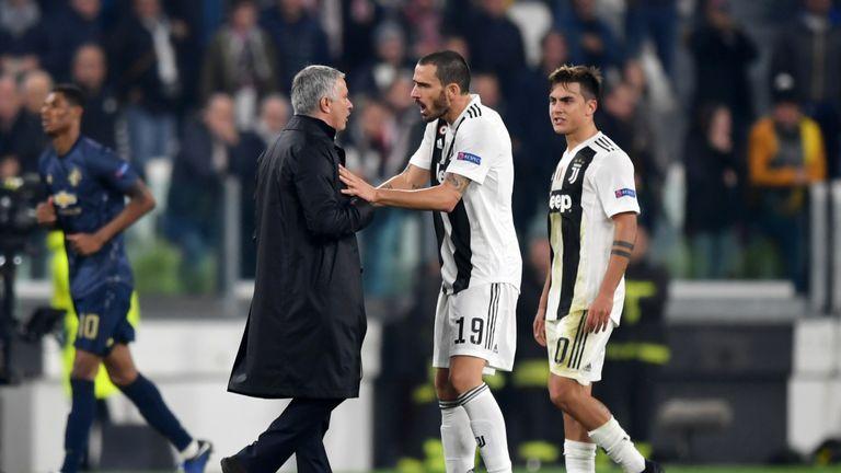 Image result for mourinho n bonucci